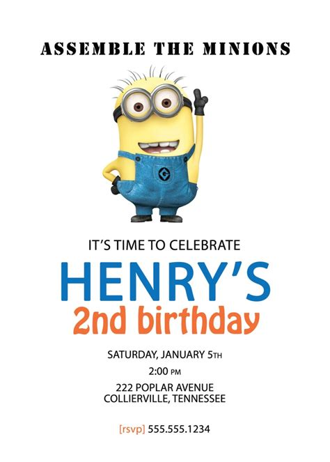 100 printable despicable me minion birthday 71 best