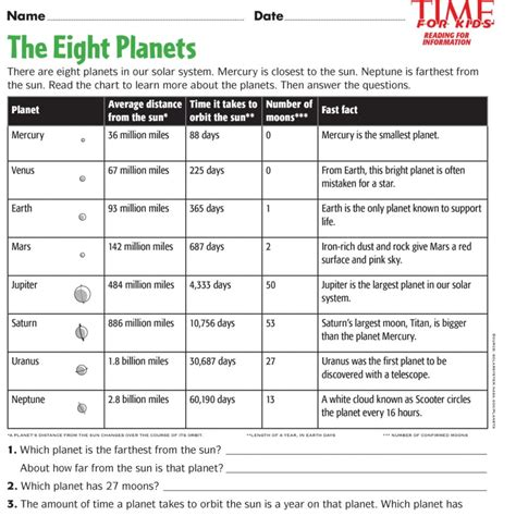 free printable activities for space printables time