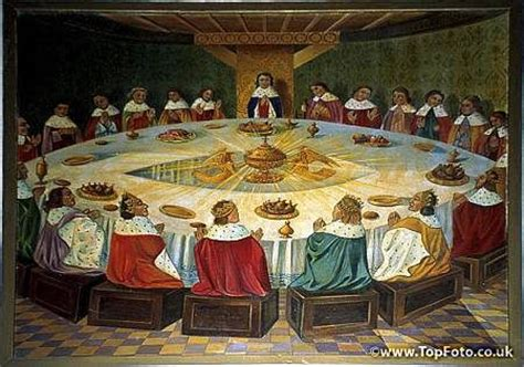 king arthur and the round table painting of king arthur 39 s knights at the round table with