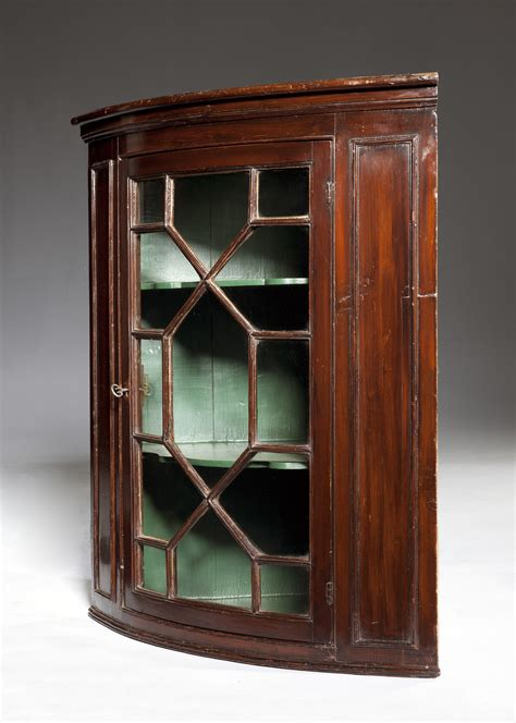 Antique Corner Cupboards For Sale by Ottery Antique Furniture Stained Pine Bow Fronted Corner