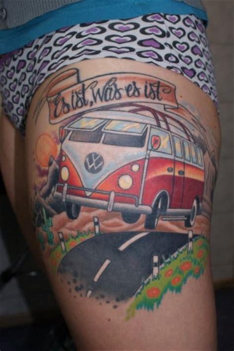 volkswagen bus tattoo to volkswagen with love tattoos inky beer