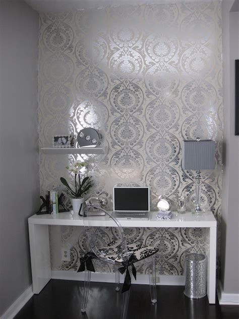 white lacquer desk contemporary denlibraryoffice