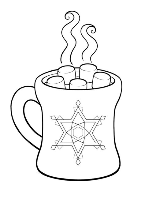 pictures hot chocolate cocoa coloring pages cocoa day