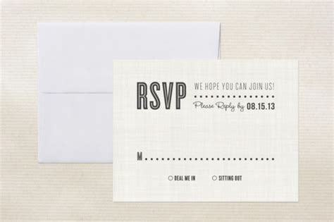 Unique RSVP Card Wording on Rustic Wedding Chic Amy