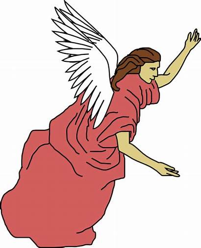 Angel Flying Clip Clipart Christmas Wings Vector