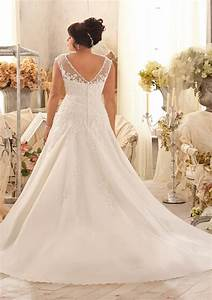 Venice lace appliques on net with crystal beaded trim plus for Plus size beaded wedding dresses