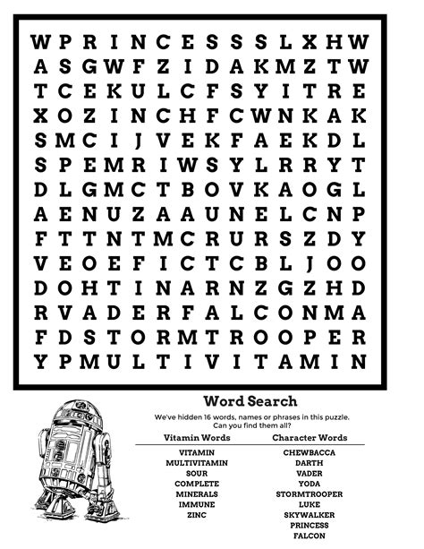 wars word search puzzle 2017 activity shelter