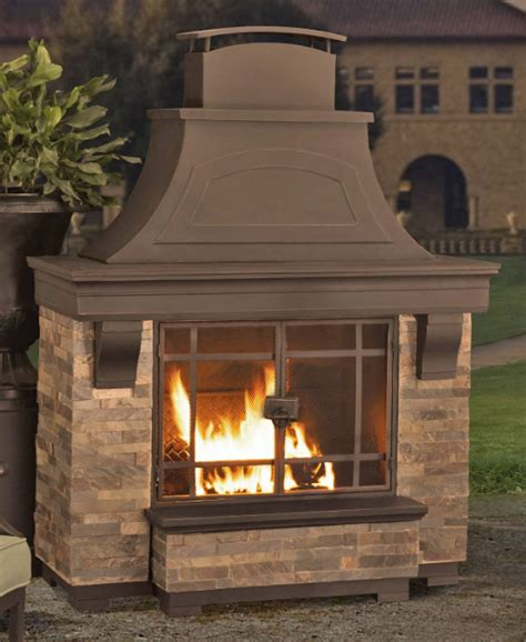 Sunjoy Black Steel Outdoor Wood Burning Fireplace Trgn