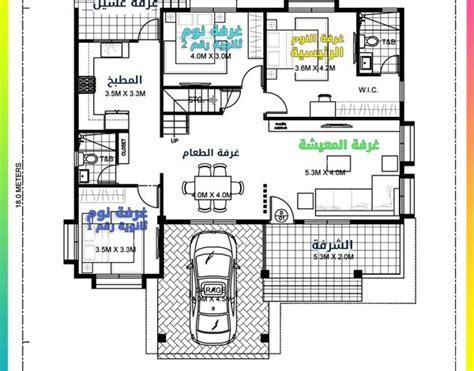 مخطط فيلا على مساحه ارض 15 *20 (300 متر مربع). مخطط بيت دور واحد 300 متر | ديكور هي
