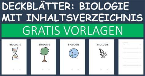 deckblatt paket biologie mit inhaltsverzeichnis convictorius