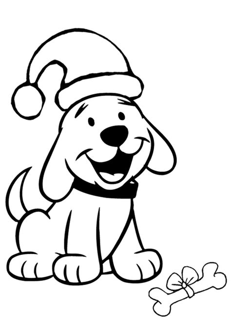 Cliffords Halloween by Free Online Christmas Puppy Colouring Page