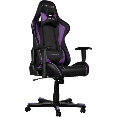 siege de gamer dxracer formula fauteuil gamer noir violet oh fe08 nv