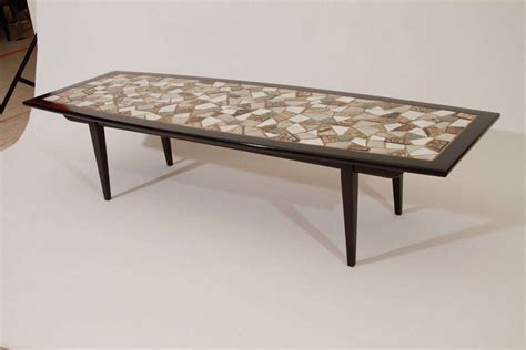 tile coffee table mosaic tile top coffee table for at 1stdibs