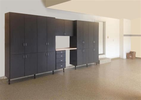 Custom Garage Cabinetry With Custom Cabinets And Workbench