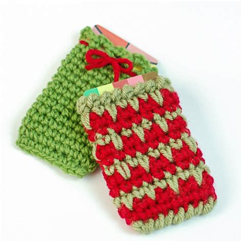 free crochet patterns easy christmas gifts fast easy crochet gift card holder free pattern