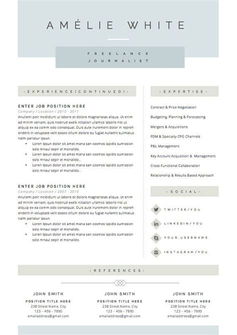 Resume Template The 3pk by Resume Template 4 Pages Cv Template Cover Letter For