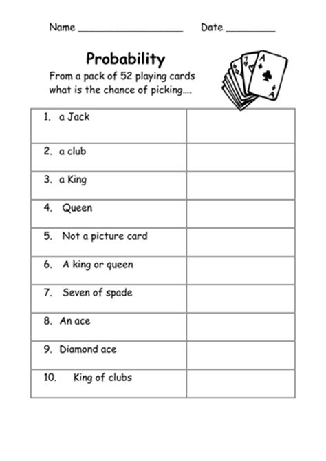 probability word problems worksheet with answers probability worksheets easy by kicha teaching resources