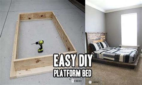 easy diy platform bed iseeidoimake