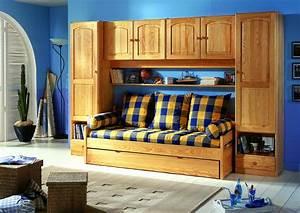acheter votre meuble pont sans banquette chez simeuble With tapis chambre enfant avec canapé clic clac couchage 160x200