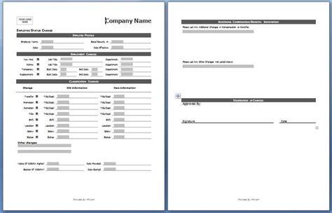 employee status change form  board pinterest