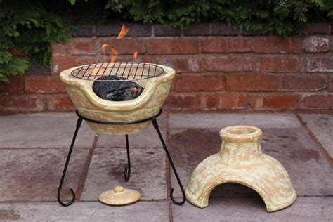 Clay Chimenea Transfoms To Barbeque Patio Heater Bbq Fire
