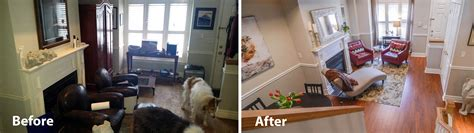 home design before and after before and after photosclutterfly inc organizing
