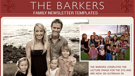family newsletter templates  word documents