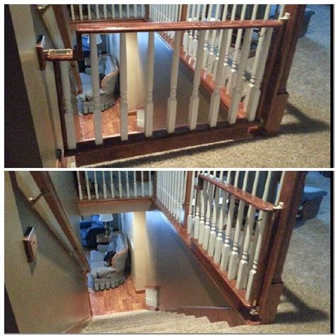 Wooden Baby Gates For Stairs With Banisters by