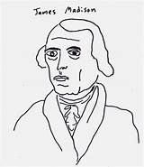Presidents Madison Coloring American Draw Political sketch template