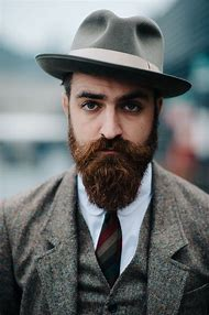 Men with Beard and Hat