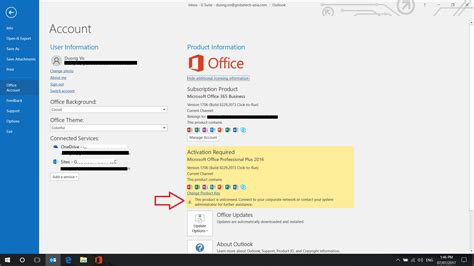 Office 365 Portal Not Showing by Office 365 Bussiness This Product Is Unlicensed