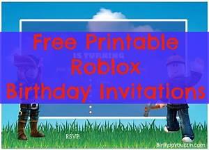 Free Printable Roblox Birthday Invitations