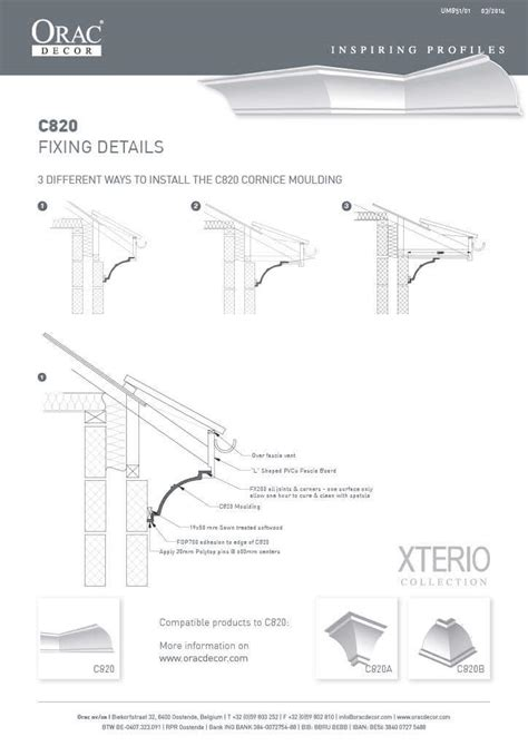Cornice Installation by Cornice Mouldings Fixing Details