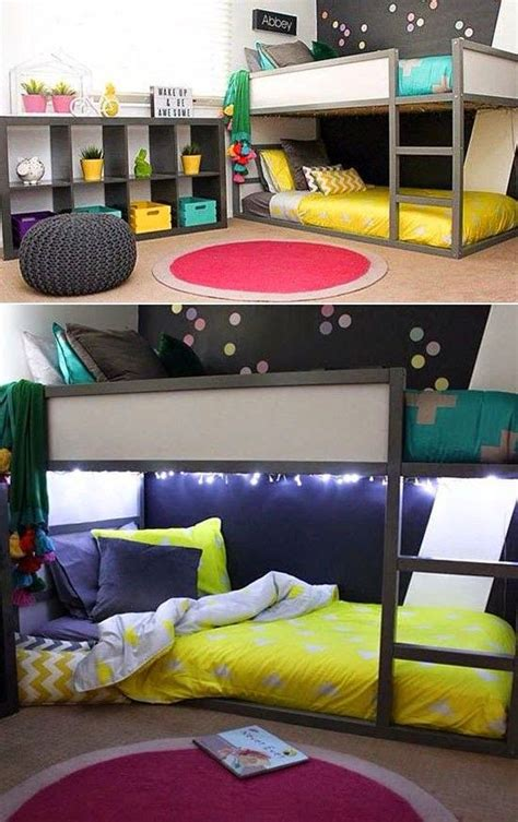 Low Loft Bed With Desk And Storage by 45 Cool Ikea Kura Beds Ideas For Your Kids Rooms Digsdigs