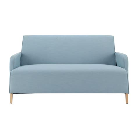 canapé 2 places tissu canapé 2 places en tissu bleu adam maisons du monde