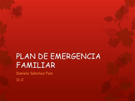 plan de emergencias familiar plan de emergencia familiar