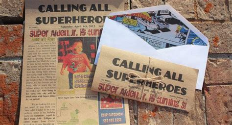 Superhero Newspaper Invitation Template Costumepartyrun