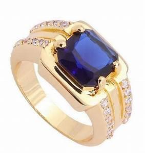 Mens Blue Sapphire Ring | eBay