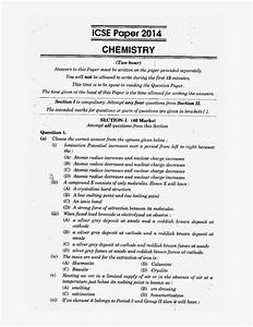 Icse 2014   Science Chemistry Solved Question Paper