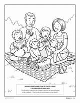 Coloring Lds Lesson Printable Children Families Parents Word Together Christian Forever Preschoolers Clipart Advertisements sketch template