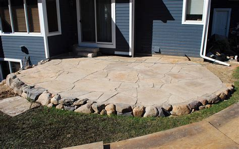 chairs for kitchen island 39 best flagstone patio designs pictures designing idea