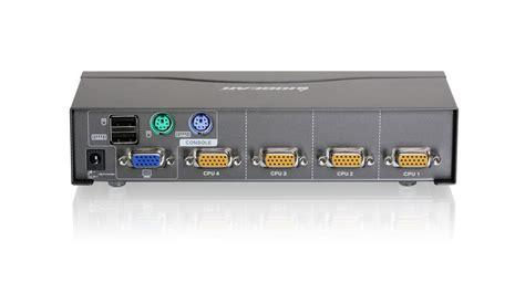 4 Port Vga Kvm Switch, Ps2 And Usb