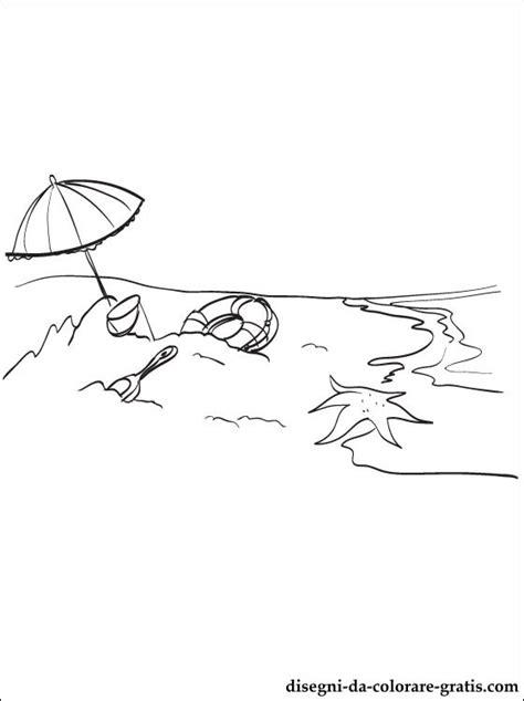 disegno  spiaggia da stampare disegni da colorare gratis