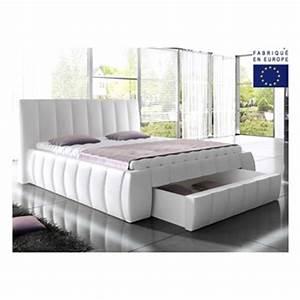 Grand Lit 200x200 : lit 2 places 200x200 maison design ~ Teatrodelosmanantiales.com Idées de Décoration