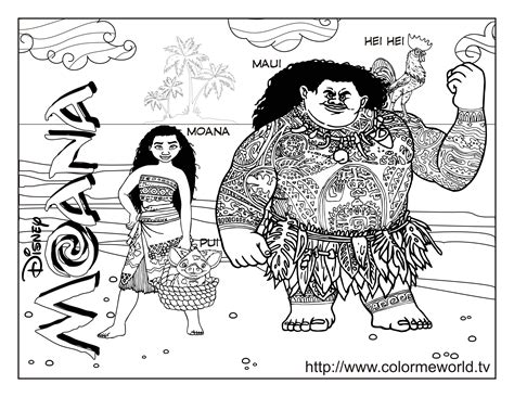 moana coloring pages  printable moana  coloring
