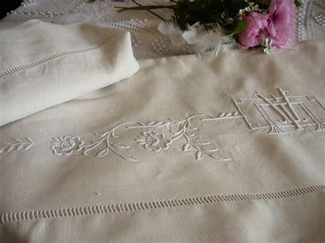 linge de maison brode linge ancien antiquit 233 s mercerie ancienne au souffle d antan linge de maison linge de lit