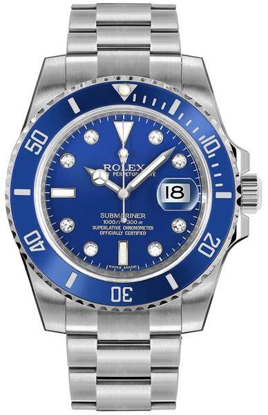 116619-BLUDD Rolex Submariner Blue Diamond Dial Mens ...
