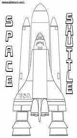 Shuttle Space Coloring Pages Launch Print Vehicle sketch template