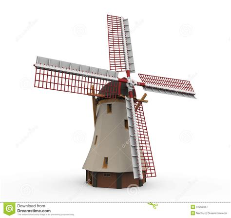 dutch windmill isolated royalty  stock photography