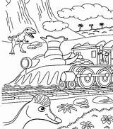 Train Coloring Steam Locomotive Dinosaurus Button Using Grab Well sketch template